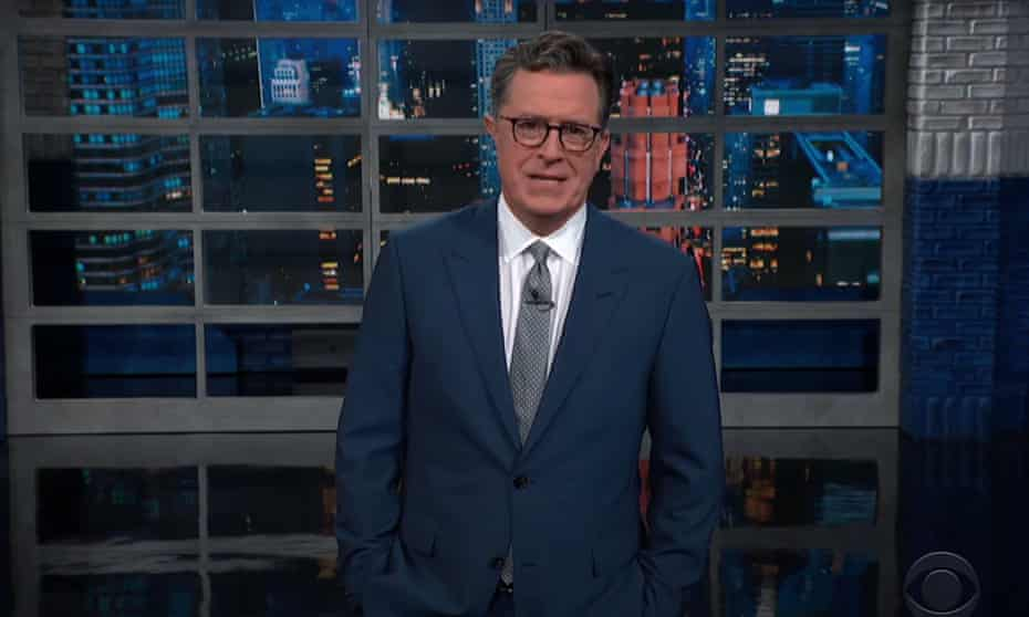 """Stephen Colbert on the conclusion of Arizona's GOP-led, conspiracy-fueled election audit: """"So they hired Maga fans, and even they couldn't say that number 45 won. That's like hiring your mom to judge the 'handsomest boy contest' and still losing to a 78-year-old guy from Delaware."""""""