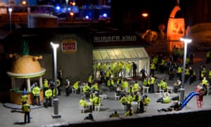 The Aftermath Dislocation Principle created by Jimmy Cauty, which was on display at Banksy's Dismaland theme park.