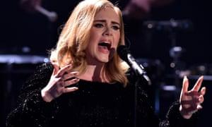 Adele performing in Germany in December 2015