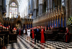 President Trump and First Lady Melania Trump tour Westminster Abbey