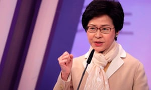 Hong Kong election candidate Carrie Lam