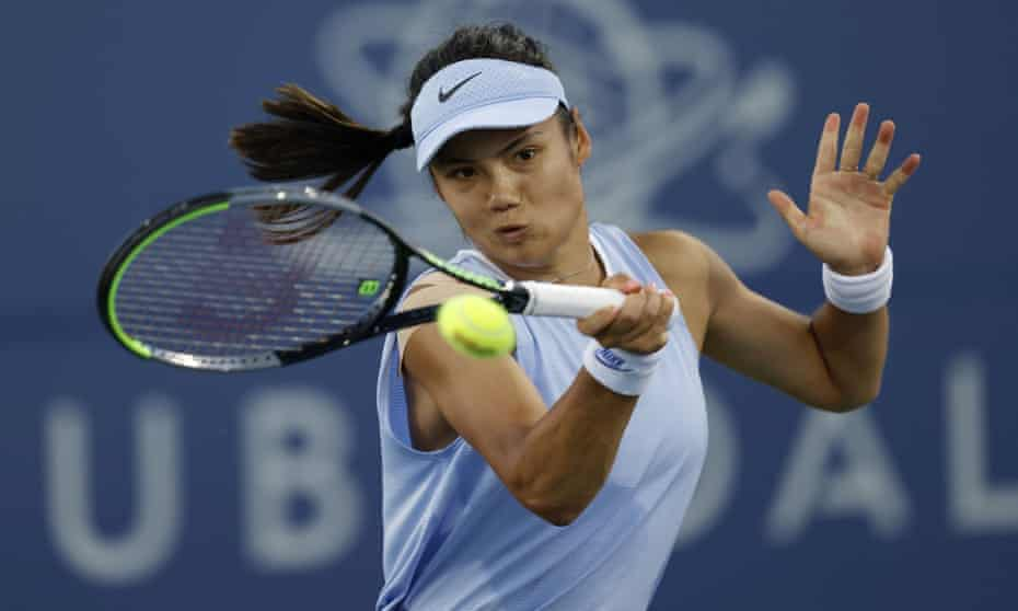 Emma Raducanu has been improving her game on a five-week run of tournaments in the US.