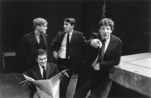 Left to right: Alan Bennett, Dudley Moore, Peter Cook, and Jonathan Miller, authors and performers of the revue Beyond the Fringe in 1964