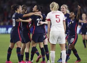 USA! USA!! USA!!! on their way to victory.