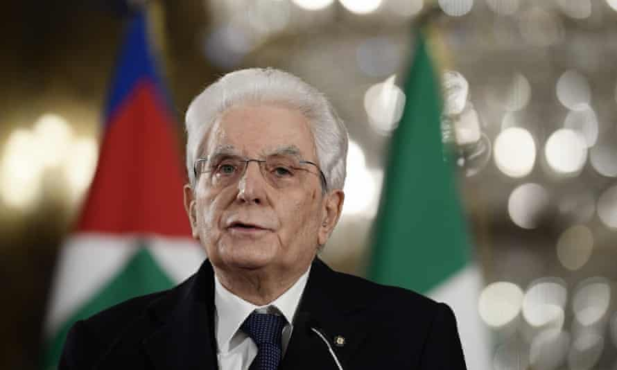 Sergio Mattarella, Italy's president, said he had two choices: either call an election or nominate a technical government.