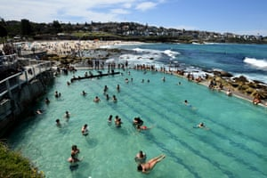 The Bronte pool provides another option for people to cool down.