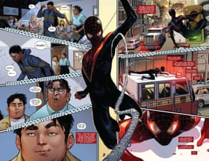 Spider-Man 1 Preview 3 Artwork to publicize the comic SPIDER-MAN #1