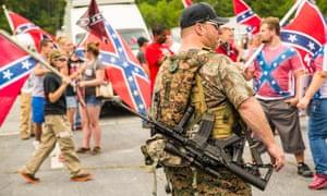 confederate flag georgia security force gun