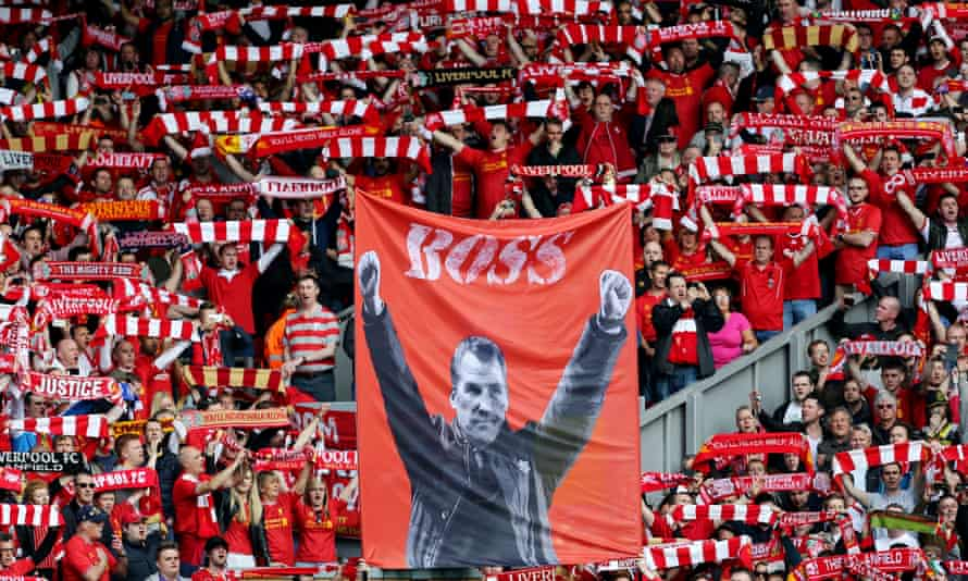 Brendan Rodgers was feted by supporters in the 2013-2014 season, but failed to deliver a first league title for Liverpool since 1990.