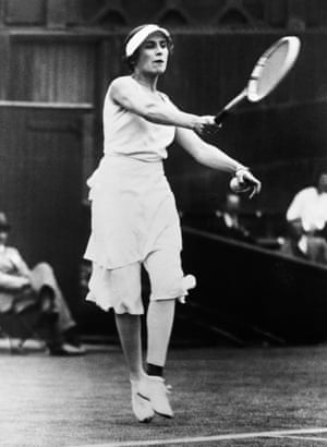 """1930sWe have Spanish player Lili de Alvarez to thank (or blame), at least in part, for the stalwart of many contemporary wardrobes: culottes. She wore this Elsa Schiaparelli-designed pair when she played at Wimbledon in 1931. For an idea of what a stir they caused, the Daily Mail at the time suggested she """"should be soundly beaten""""."""