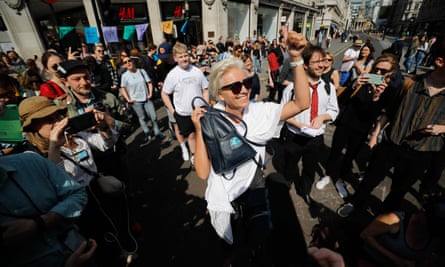 Actor Emma Thompson joins the activists in London.