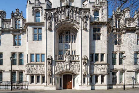 The supreme court in London.