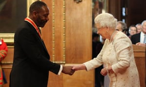 Lenny Henry was knighted by the Queen at Windsor Castle.