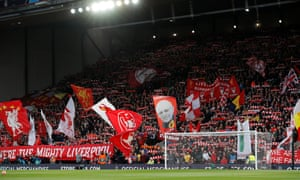 The Anfield Kop on a special night for Liverpool