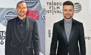 Jesse Williams and Justine Timberlake: similar style, but a gulf of understanding