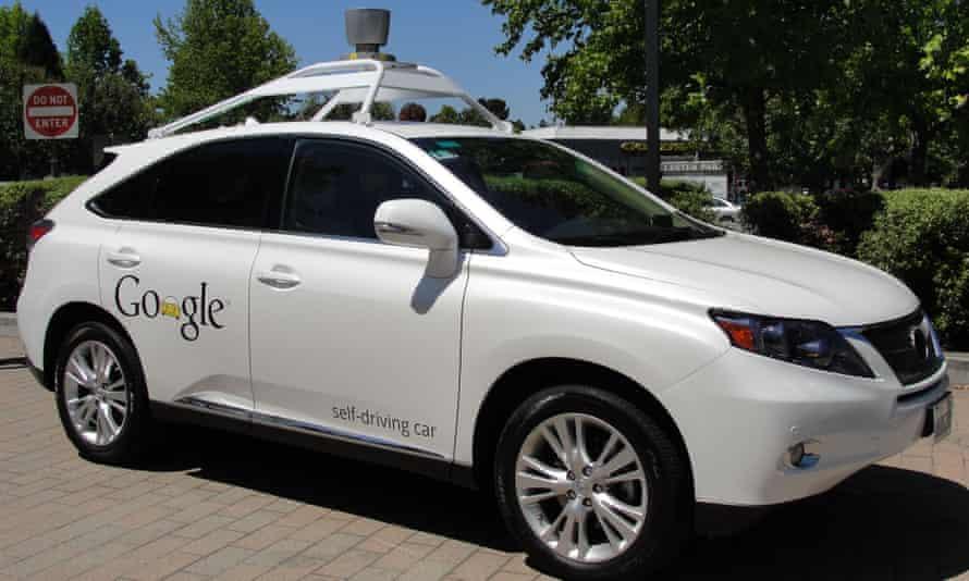 A Google self-driving car in Mountain View, California.