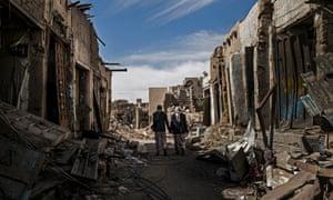 Damaged souk in Sa'ada, Yemen