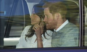 Prince Harry and Meghan Markle leave Kensington Palace for wedding rehearsals in Windsor