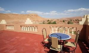 terrace with view at riad tigmi