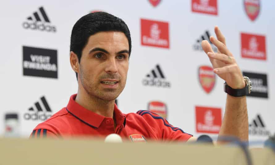 Mikel Arteta, the new Arsenal manager, is unveiled at his first press conference.