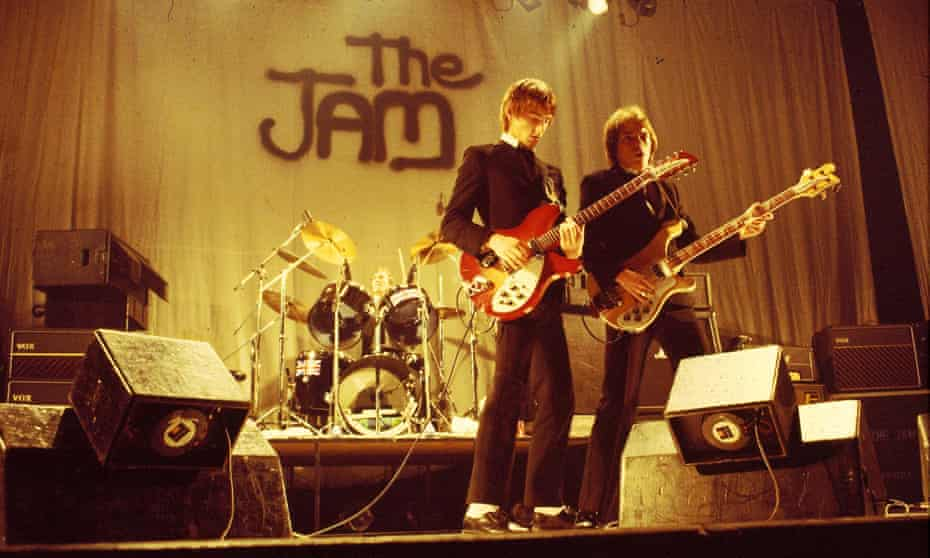Weller and Bruce Foxton on stage during a Jam gig in 1978.