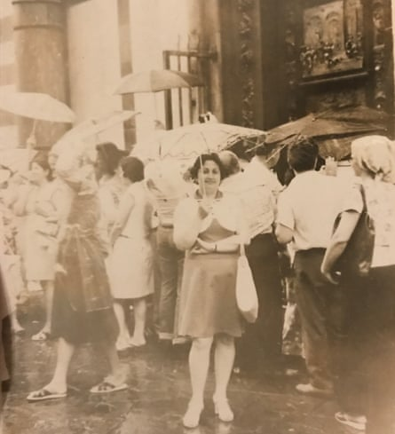 Sophie van Llewyn's grandmother Sofia in Florence, Italy 1977.