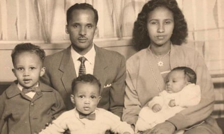 Omar Musa with his wife, Zahra, and young family in the 1960s