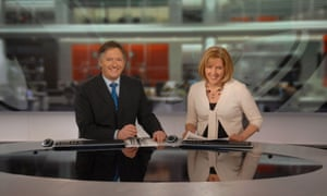 Behind the headlines: Gracie wih co-host Simon McCoy who was then earning more than double what she was.