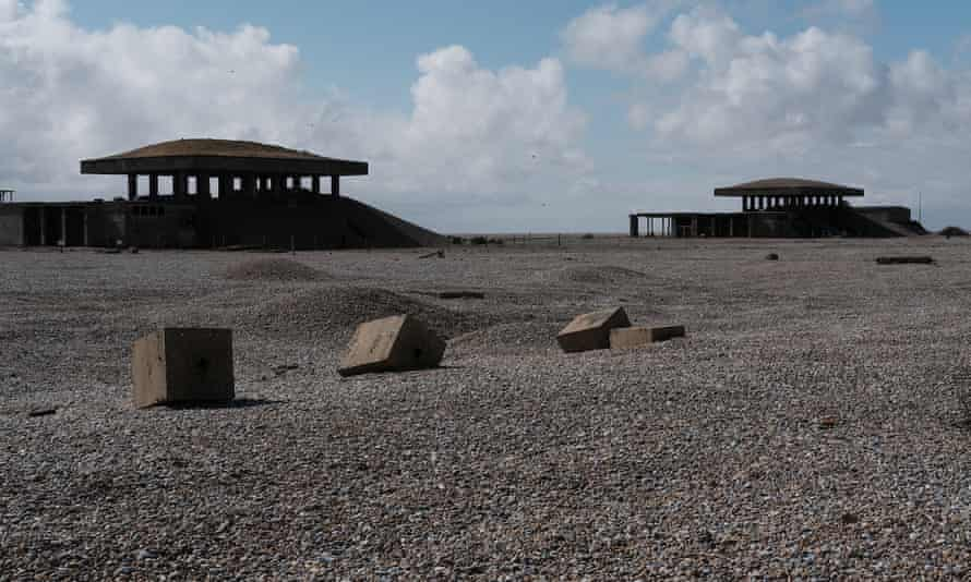 Nuclear test sites … the 'pagodas' of Orford Ness.