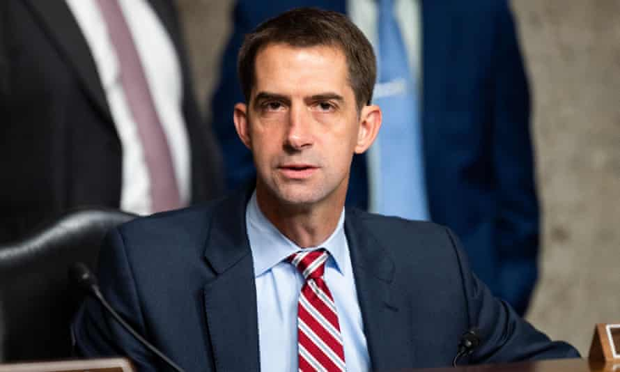 Tom Cotton attends a Senate committee meeting on 17 September.