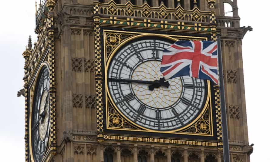 A union flag flies on Big Ben on 27 June 2016, four days after the EU referendum.