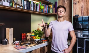British Olympic diver Tom Daley, photographed at his home.