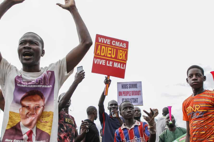 Anti-Keïta protesters gather in Bamako.