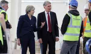 Theresa May and Chancellor Philip Hammond visit Leeds College of Building