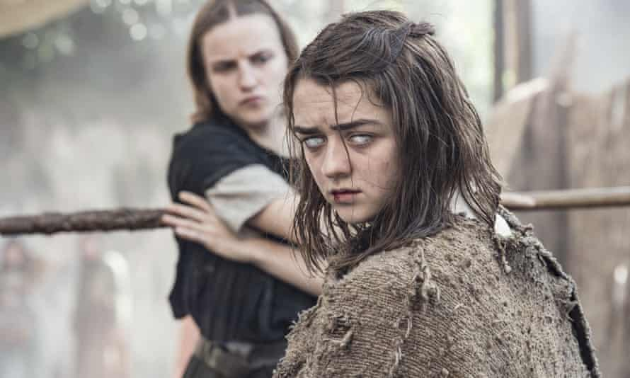 Maisie Williams in a scene from Game of Thrones season six episode 1 The Red Woman.