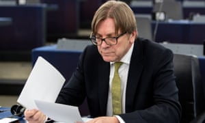 """Guy Verhofstadt expressed his regret over Italy having gone from being a staunch supporter of the EU to a """"laggard"""""""