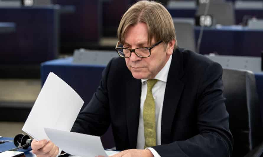 "Guy Verhofstadt expressed his regret over Italy having gone from being a staunch supporter of the EU to a ""laggard"""