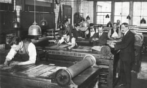 Production of the Daily Mail in the early 1920s
