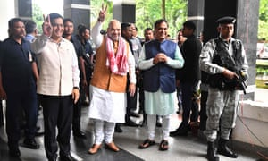 Minister Amit Shah during his visit to Assam.