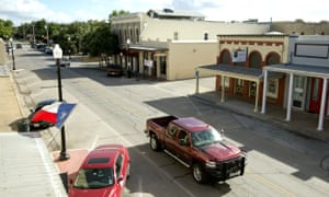 Main Street in downtown Bastrop, Texas is quiet on the first day of the Operation Jade Helm 15 military exercise on 15 July 2015. Texas was not, as it turned out, invaded by the federal government.