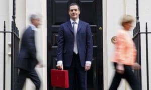 George Osborne before his budget statement to the Commons