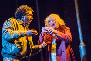 Rage writ large: Lemn Sissay and June Watson in Road at the Royal Court.