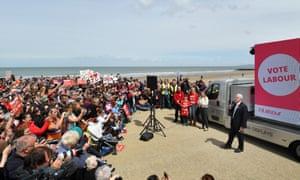 Jeremy Coryn speaks in Colwyn Bay.