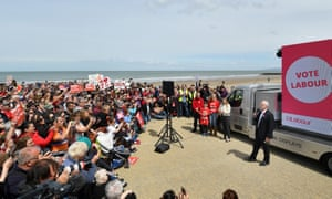 Jeremy Corbyn rally on the last day of the election