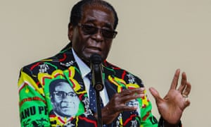 Zimbabwe president Robert Mugabe speaks at an event in Masvingo alongside the party's annual conference on Saturday.