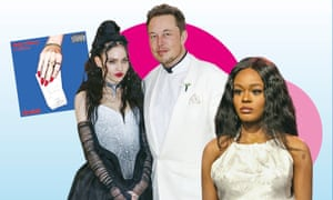 Pay pals... from left: Grimes; Elon Musk; Azealia Banks.
