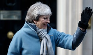 Theresa May leaves 10 Downing Street for the House of Commons on Thursday