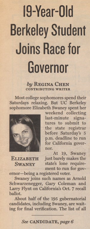 Swaney ran for governor at age 19.