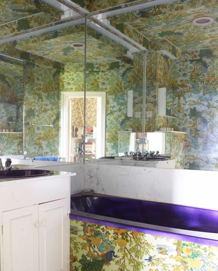 Reflected glory: 1970s bathrooms with pink and amethyst, designed by Godfrey Bonsack.