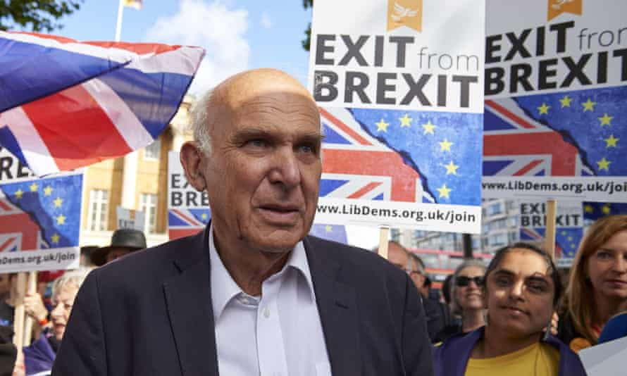 Liberal Democrat leader Vince Cable on the People's March for Europe in September  2017.